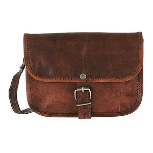 Leather Shoulder Bag - bags & purses
