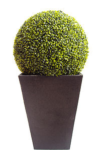 Giant Artificial Boxwood Topiary Ball - artificial outdoor plants