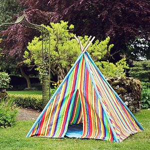 Rainbow Play Teepee - less ordinary garden ideas