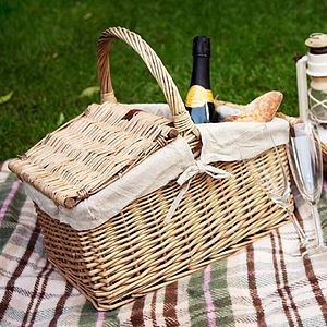Wicker Picnic Basket - camping