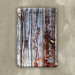 Personalised Wooden Board Case For iPad Mini