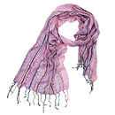 Light Pink Ladies Woven Scarf