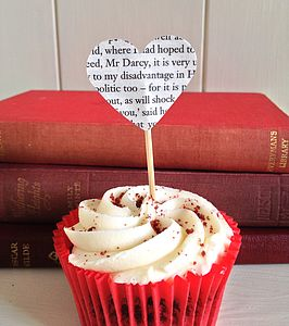 Pride And Prejudice Book Cupcake Toppers - cake stands