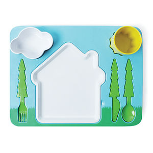 Child's Landscape Dinner Set - children's tableware