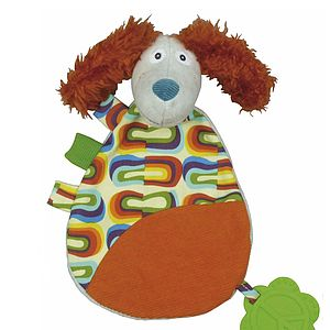 'Antoine The Dog' Comforter With Teether