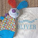 'Jeff The Rabbit' Comforter With Teether