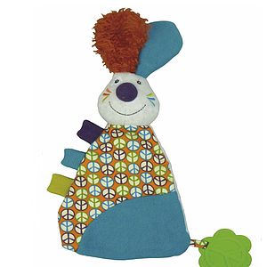 'Jeff The Rabbit' Comforter With Teether - teethers