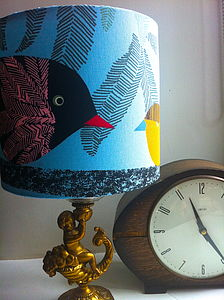Handmade Funky Bird And Chick Lampshade - lampshades