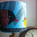 Handmade Funky Bird And Chick Lampshade
