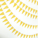 Dandelion Yellow Mini Bunting flags