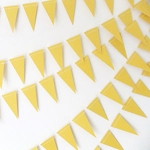 Sunshine Mini Paper Bunting - bunting & garlands