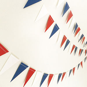 Street Party Mini Paper Bunting - outdoor decorations
