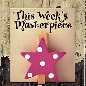 'This Week's' Masterpiece Wooden Peg - hooks, pegs & clips