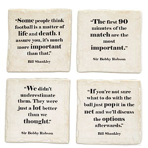 Famous Football Quotes Coasters - placemats & coasters