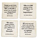 Famous Football Quotes Coasters