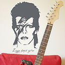 Bowie / Ziggy Played Guitar Wall Sticker