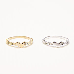 Heart Knuckle Ring - rings