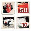 Set Of Four Historic Racers Coasters