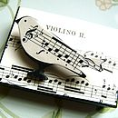 Vintage Sheet Music Songbird Pin