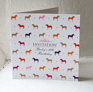 Horse & Pony Party Invitation & Place Card - shop by price