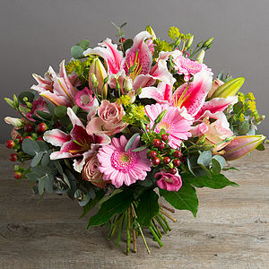 Perfumed 'Pink Lady' Fresh Flowers Bouquet