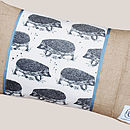 Rectangle Badger And Hedgehog Cushion
