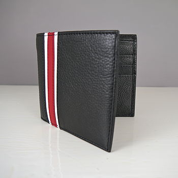 Leather Racing Stripes Wallet