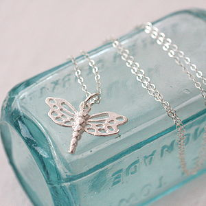 Dragonfly Sterling Silver Charm Necklace