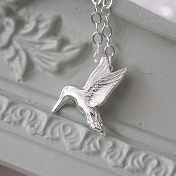 Hummingbird Sterling Silver Charm Necklace