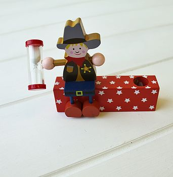 Cowboy Wooden Toothbrush Timer