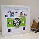 Mounted 'Raccoons In A Campervan' Couple Print