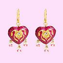 Eva Heart Hand Painted Earrings