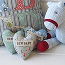 Vintage Inspired Fabric New Baby Hearts