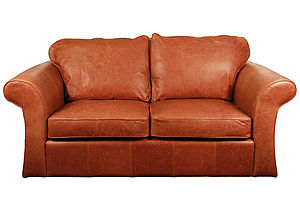 Nottingham Classic Leather Sofa - living room