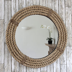 Twisted Rope Round Mirror - bedroom
