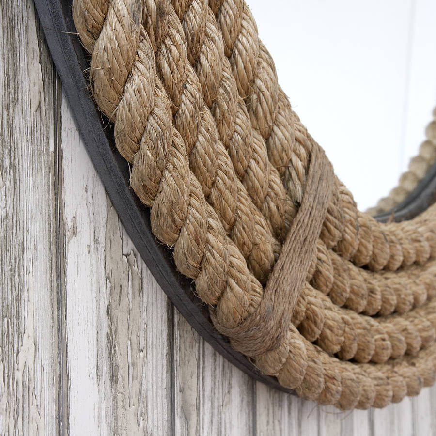 Twisted Rope Round Mirror By Decorative Mirrors Online