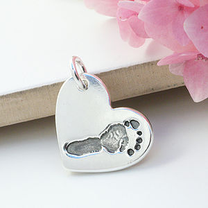 Personalised Silver Hand Or Footprint Charm