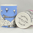 Bristol Bone China Mug 'Clifton Balloons' Blue