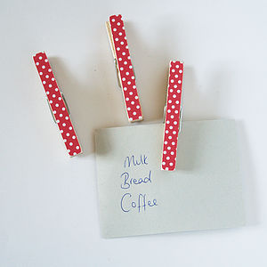 Bold Polka Dot Magnetic Note Holders - storage & organisers