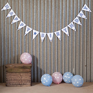 Happy Birthday Bunting Large - outdoor decorations