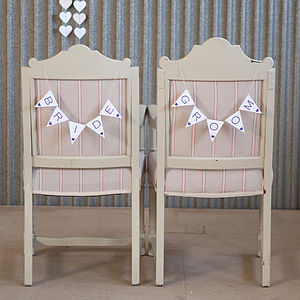 Bride & Groom Signs - outdoor decorations