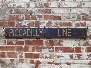 Piccadilly Line Hook Board - furnishings & fittings