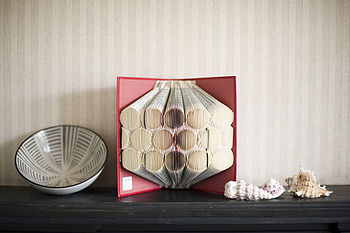 Patterned Folded Book Decoration