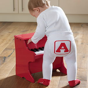 Alphabet Baby Tights - clothing