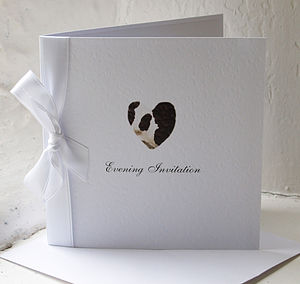 Cow Print Heart Wedding Party Stationery