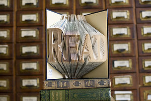 'Read' Folded Book Decoration - sculptures
