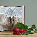 'Love' Folded Book Decoration