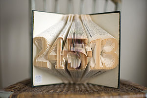 Special Date Folded Book Decoration - decorative accessories