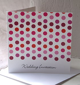 Polka Dot Wedding Party Stationery - wedding stationery
