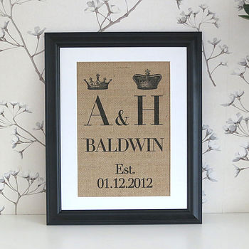 "Mr & Mrs wall decor black 14""11"""